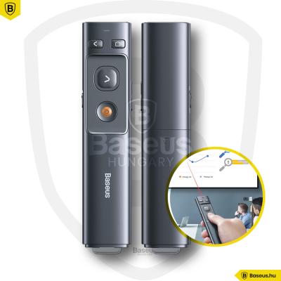 Baseus Orange Dot Wireless Prezentációs lézer - Szürke