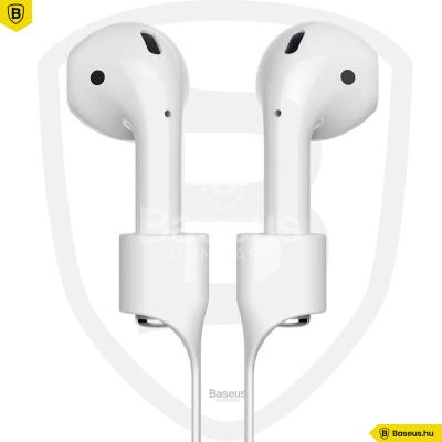 Baseus AirPods fülhallgató tartó - Szürkés fehér