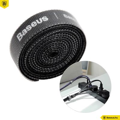 Baseus tépőzáras kábelrendező 1m - Fekete