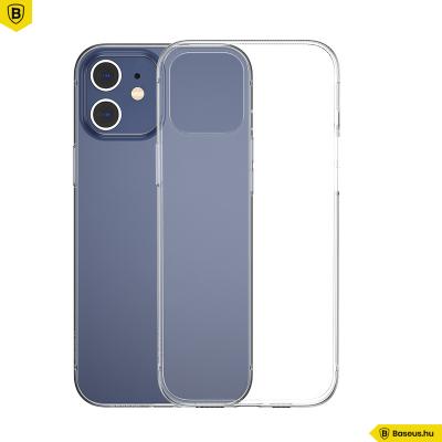Baseus iPhone 12 Mini szilikon Simple tok - Átlátszó