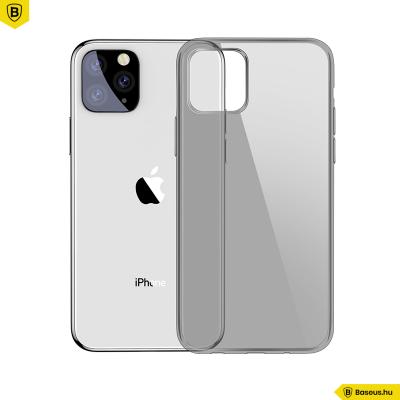 Baseus Simplicity iPhone 11 Pro 5.8 TPU tok - Átlátszó - fekete