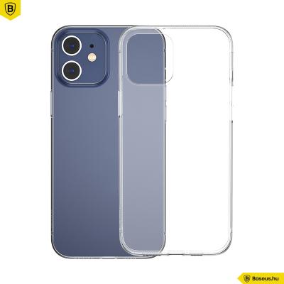 Baseus iPhone 12 szilikon Simple tok - Átlátszó