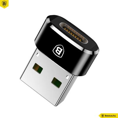Baseus Type-C/USB átalakító adapter - Fekete