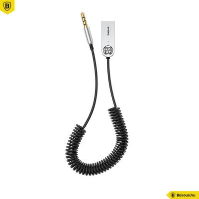 Baseus BA01 USB + vezeték nélküli audio adapter kábel 3,5mm jack bemenet - Fekete
