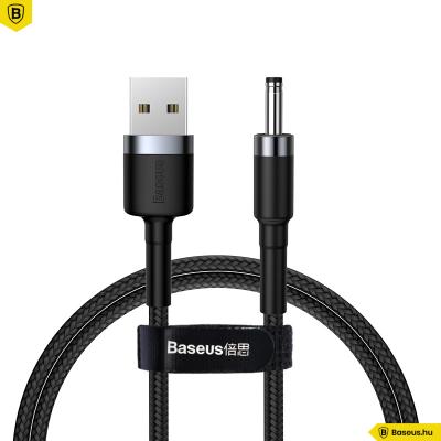 Baseus Cafule USB-A-ról DC 3.5mm-re töltő kábel 2A 1m - Fekete