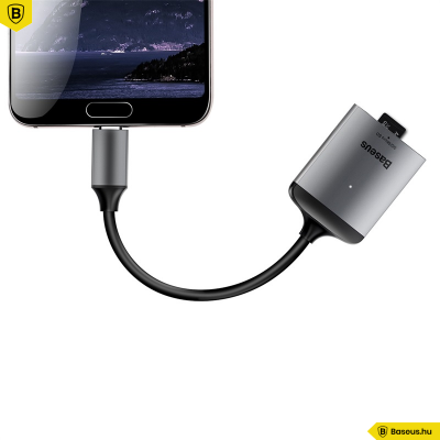 Baseus Enjoy Type-C Micro SD kárytaolvasó adapter - szürke