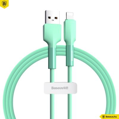 Baseus iPhone adat/töltőkábel 2,4A 1m Silica- Zöld