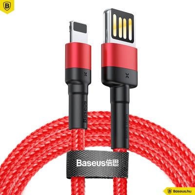 Baseus Cafule iPhone kábel 2,4A 1m - Piros