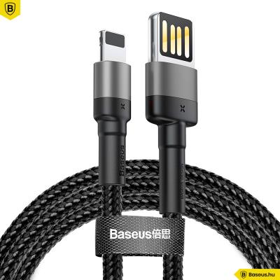 Baseus Cafule iPhone kábel 2,4A 1m - Szürke/Fekete