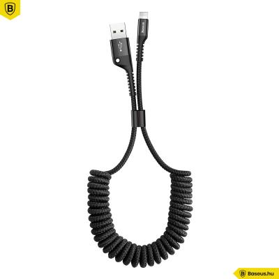 Baseus Fish eye iphone/Lightning adat/töltőkábel 23cm-1m-ig - Fekete