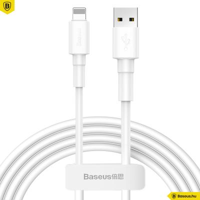 Baseus Mini White iPhone/lightning adat/töltőkábel 2,4A 1m - Fehér