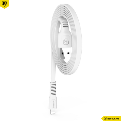 Baseus Tough iPhone Lightning adat/töltőkábel 2A - 1m - Fehér