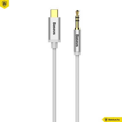 Baseus M01 Yiven USB-C - 3,5 Jack összekötő audio kábel 1,2m - Fehér