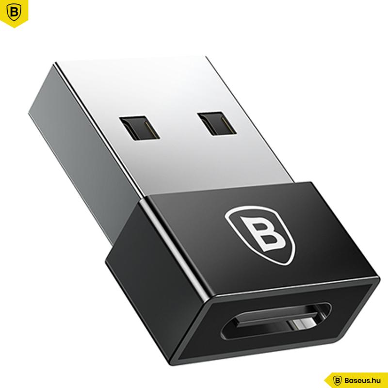 Type-C /USB adapter 2,4A Baseus - Fekete