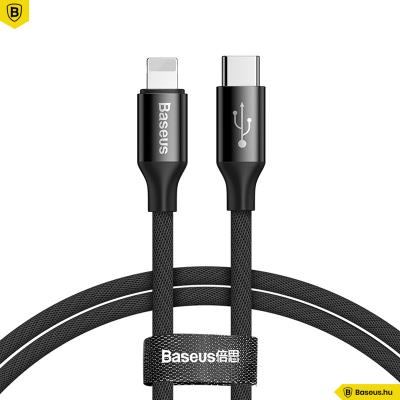 Baseus USB-C/Lightning szövet adat/töltő kábel 2A 1m Yiven