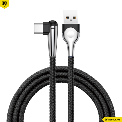 Baseus Sharp-bird USB-C kábel gamereknek játékhoz 90°-os fejjel - Fekete