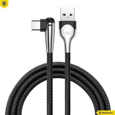 Baseus Gamer USB-C adat/töltőkábel 2A 2m - Fekete