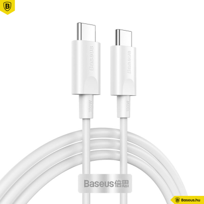 Baseus Xiaobai USB-C gyors töltő kábel 100W(20V/5A) 1.5m - Fehér