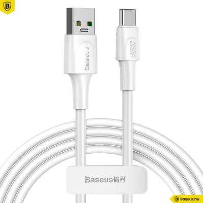 Baseus USB-C gyors töltőkábel VOOC Quick Charge 3.0 5A 2m - Fehér