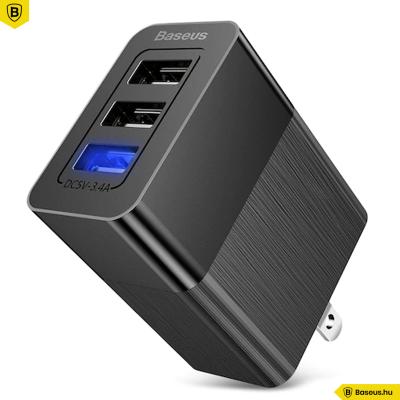 Baseus Univerzális hálózati töltő adapter 3in1 3.4A