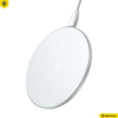 Baseus Simple vezeték nélküli wireless gyorstöltő (5W/7.5W/10W)- Fehér