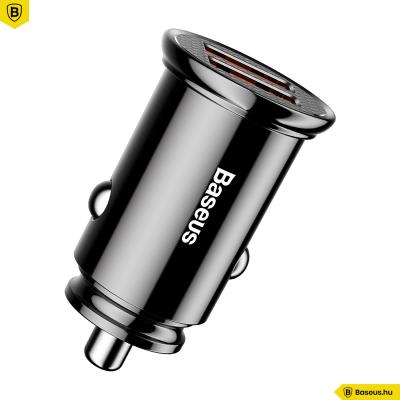 Baseus Circular autós töltő 2USB A+A 30W QC3.0 - Fekete