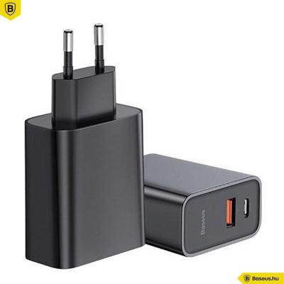 Baseus Speed USB QC3.0 USB-C PD 30W hálózati töltő - Fekete