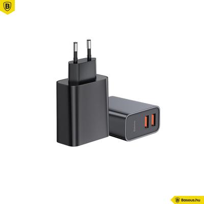 Baseus Speed Dual USB QC3.0 30W hálózati töltő - fekete