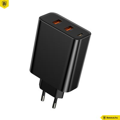 Baseus PPS 2USB +USB-C hálózati gyors töltő 60W - Fekete