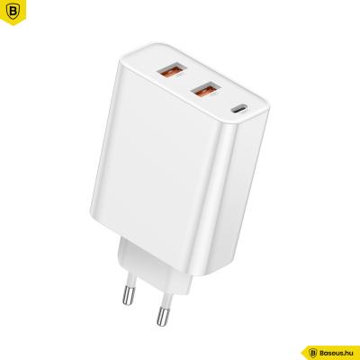 Baseus Speed PPS 2USB +USB-C hálózati gyors töltő 60W - Fehér
