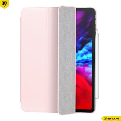 Baseus Simplism mágneses bőr tok iPad Pro 12.9 (2020) - Rózsaszín
