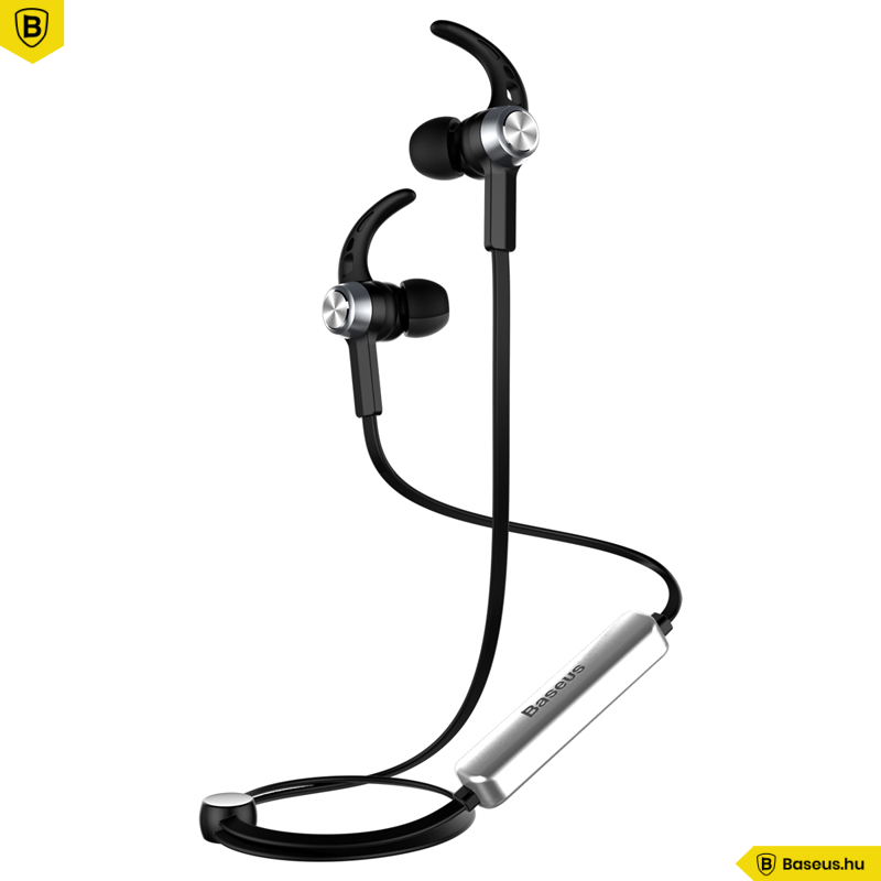 Baseus Licolor B11 mágneses sztereó Bluetooth sport fülhallgató, headset - Ezüst és Fekete