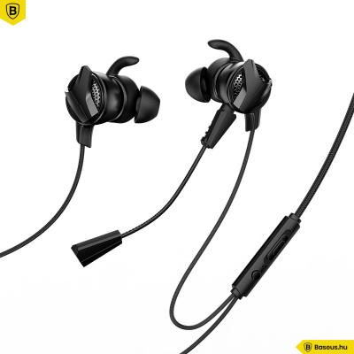 Baseus GAMO H15 vezetékes fülhallgató/headset - Fekete