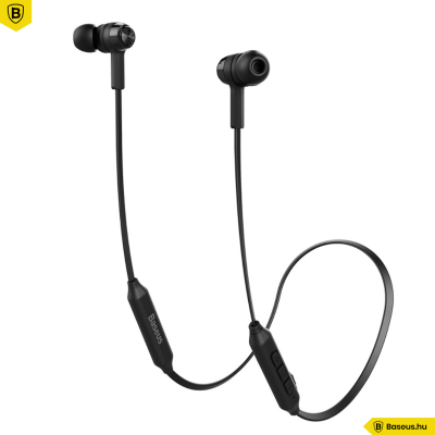Baseus Encok S06 Mágneses Bluetooth fülhallgató/headset - Fekete