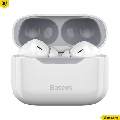 Baseus S1 TWS fülhallgató ANC-vel, Bluetooth 5.1 - Fehér