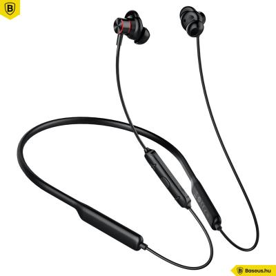 Baseus Encok S12 Mágneses Bluetooth fülhallgató/headset - Fekete