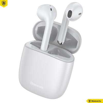 Baseus Encok True W04 PRO vezeték nélküli fülhallgató BT 5.0 - Fehér