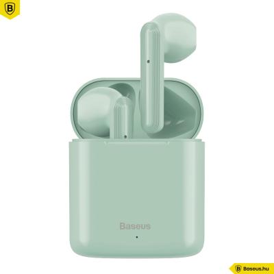 Baseus TWS Encok W09 mini vezeték nélküli fülhallgató Bluetooth 5.0 - Zöld