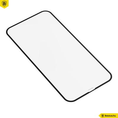 Baseus iPhone 12 Mini 0,23mm kijelzővédő üvegfólia (2db/cs.) - Fekete