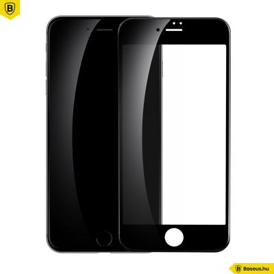 Baseus Full Cover iP 7/8 Plus kijelzővédő üvegfólia - Fekete