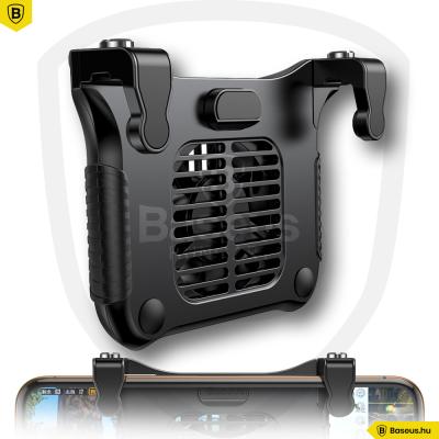 Baseus Winner mobiltelefontartós játékvezérlő, hűtőventilátorral - Fekete
