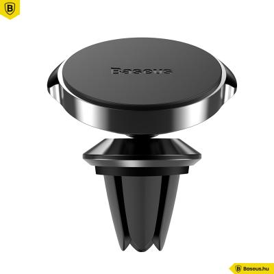 Baseus mágneses autós telefontartó szellőzőrácsra Small Ears - Fekete