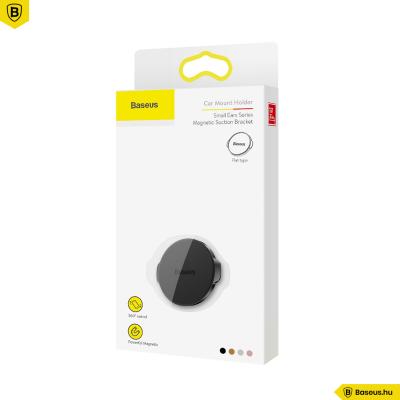 Baseus mágneses autós telefontartó műszerfalra Small Ears - Fekete