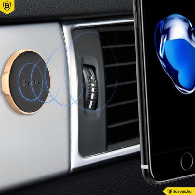 Baseus mágneses autós telefontartó műszerfalra Small Ears - Ezüst