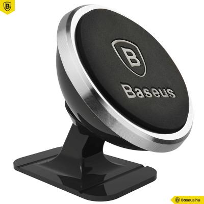 Baseus Strong Mágneses autós telefontartó műszerfalra - Ezüst