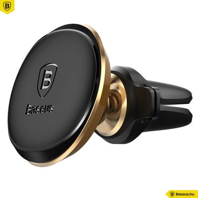 Baseus mágneses autós telefontartó szellőzőrácsra Air Vent - Bronz
