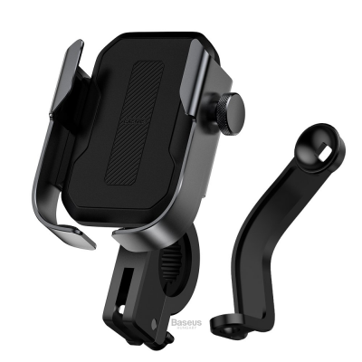 Baseus biciklis telefontartó kormányra és tükörre - Fekete