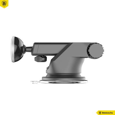 Baseus Solid Teleszkópos mágneses autós telefontartó - Ezüst