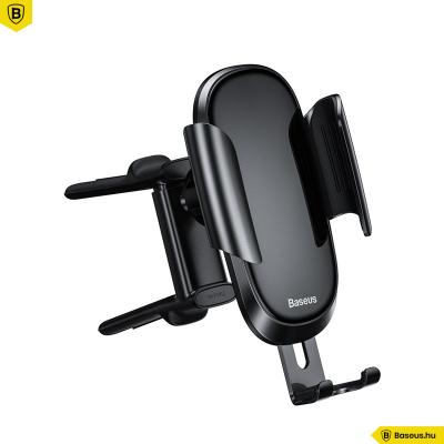 Baseus Future Gravity autós telefontartó kerek szellőzőrácsra - Fekete