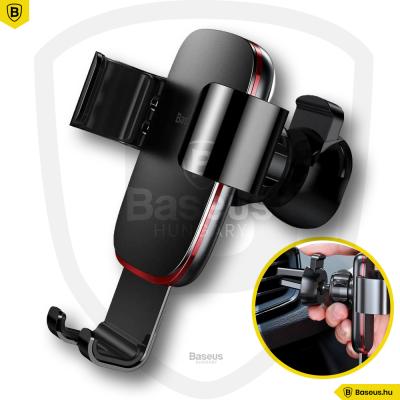 Baseus Metal Age Gravity autós telefontartó szellőzőrácsra - Fekete